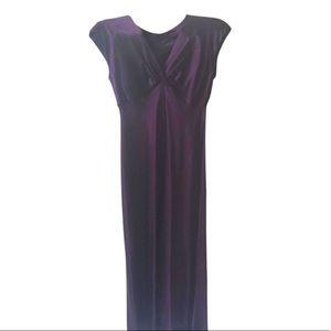 JONES NEW YORK Lilac Silk Maxi Dress 14